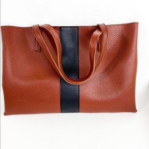 Vince Camuto Luck Tote Vegan Leather Red Desert